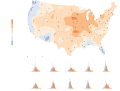 A map of the increases in average temperature this year. (Courtesy of The New York Times)