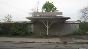 What used to be a gas station in Cincinnati's East End