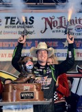 This is how Kyle Busch celebrated winning the NRA 500. I wish this was photoshopped.