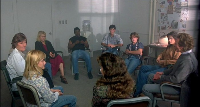 The best group therapy shot I could find online was a still from A Nightmare On Elm Street 3...Go figure.
